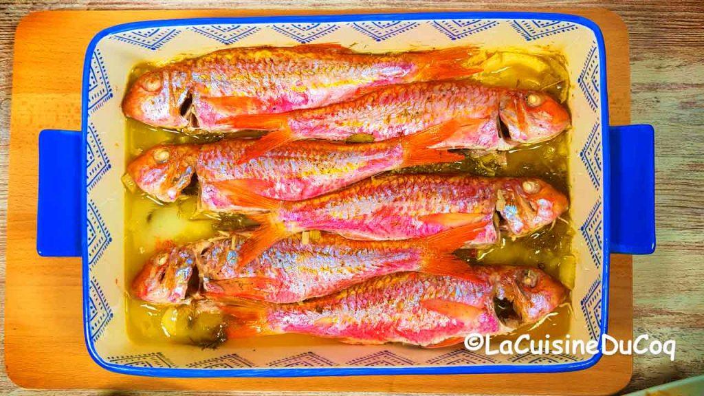 poisson au four rouget barbet